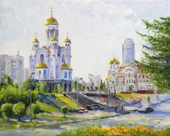 The Church on spilled blood. Morning on Tsarskaya street. Tyutina-Zaykova Ekaterina