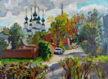 Suzdal, view of the Old Street and Lazarevskaya Church. Dobrovolskaya Gayane