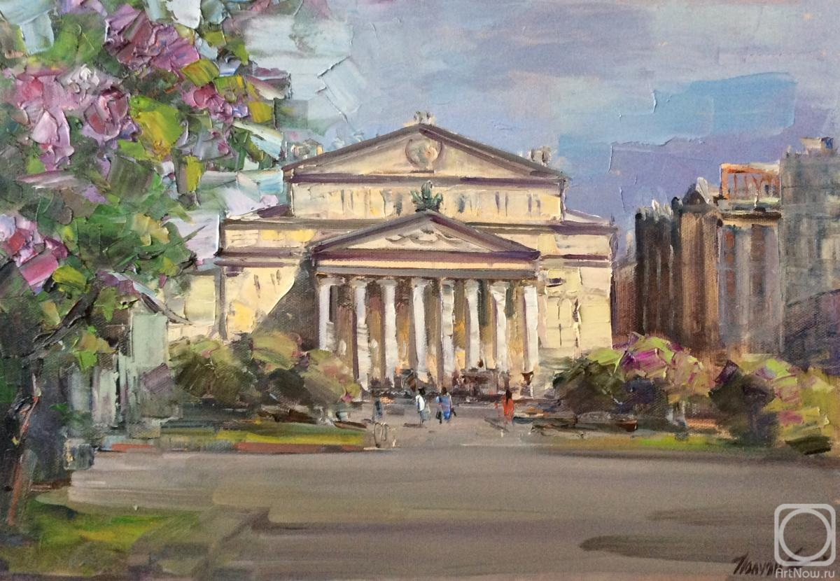 Poluyan Yelena. Moscow. Spring on Theater square