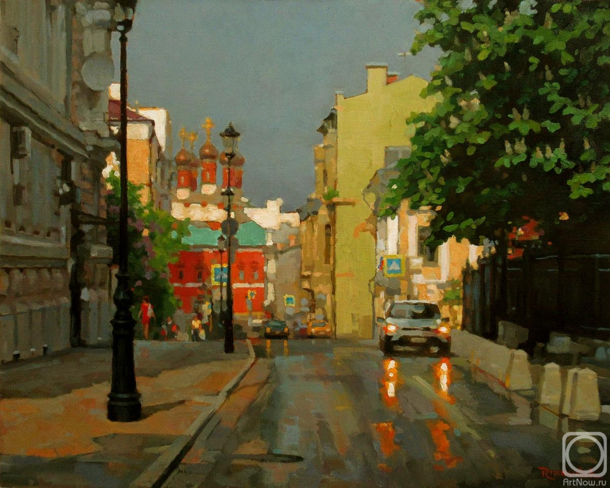 Volkov Sergey. Petrovsky lane in May after rain