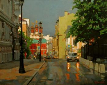 Petrovsky lane in May after rain. Volkov Sergey