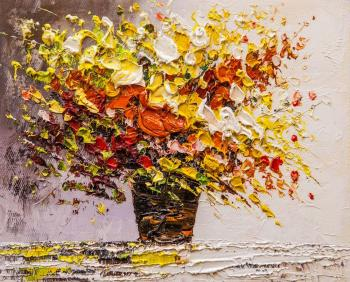 Yellow-orange bouquet (Oil Paintings). Vlodarchik Andjei