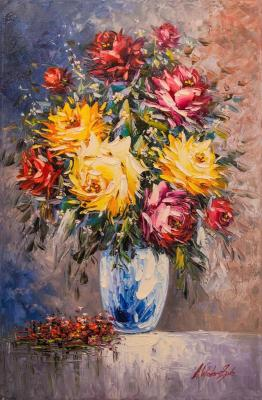 Bouquet of roses (Oil Paintings). Vlodarchik Andjei
