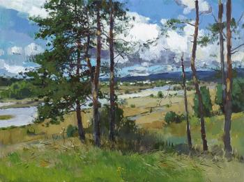 Pines by the river. Zhilov Andrey