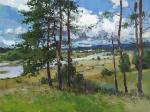 Zhilov Andrey. Pines by the river