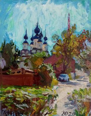 Suzdal, view of the Old Street and the Lazarevskaya Church from the Robe Deposition Monastery, morning. Dobrovolskaya Gayane
