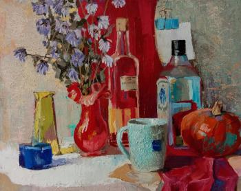 Stillife with a blue cup. Hmelnitskiy Aleksandr