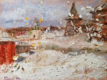 Near the Solovetsky Monastery. Plein air