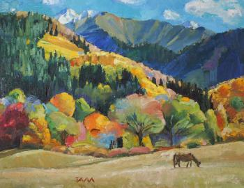 Autumn mountains. Myasnikova Tatyana