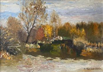 Autumn day by the pond. Chernyy Alexandr