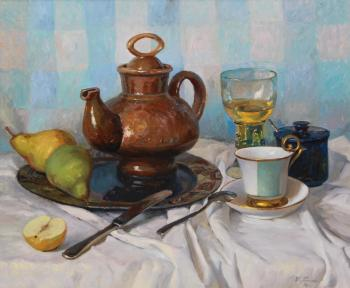 Still Life with a Glass of Lemonade. Ryzhenko Vladimir