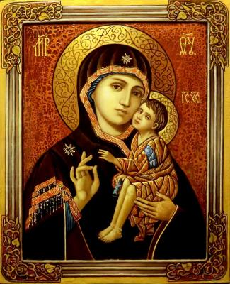 Variation on the theme of the icon of our lady of the don. Litvinov Valeriy