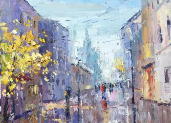 Rainy day (Palette Knife). Gavlina Mariya