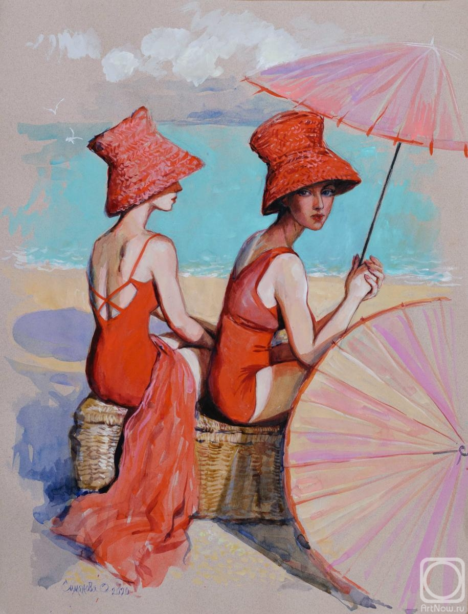 Simonova Olga. Red Swimwear
