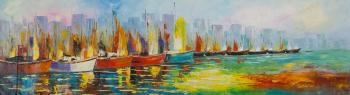 Boats N9. Series Marine multicolored (Interior Painting). Vevers Christina
