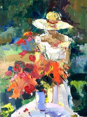 Bouquet in the garden (Palette Knife). Gavlina Mariya