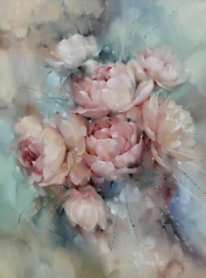 Composition with peonies. Singatullin Marsel