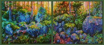 The evening forest is still awake (Painting In The Interior). Chizhova Viktoria
