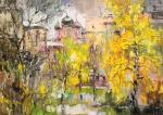 Charina Anna. Autumn birch. Courtyard on Shabolovka