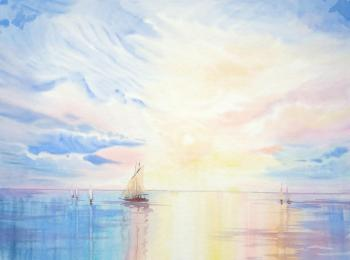 Bright morning at the sea (Morning Sun). Mikhalskaya Katya