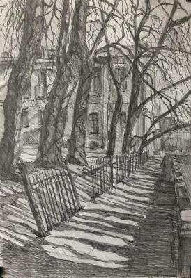 Petersburg sketches, autumn in the city. Chistiakov Vsevolod