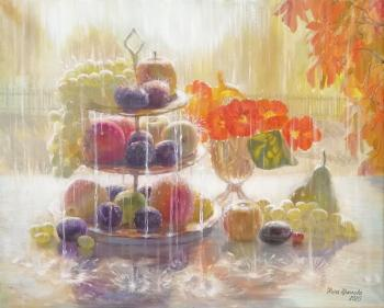 And the rain and sun of October (Maiden Grapes). Krasnova Nina