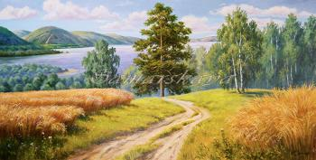 The Volga wheat (Mountain Landscape). Samarskaya Helena