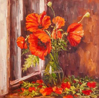 Poppies on the window. Vlodarchik Andjei