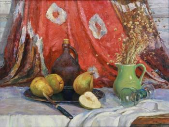 Still Life with Pears (Still Life In The Interior). Ryzhenko Vladimir