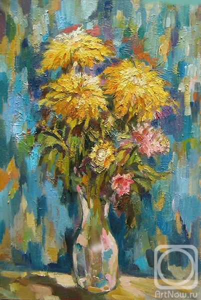 Bocharova Anna. Yellow chrysanthemums