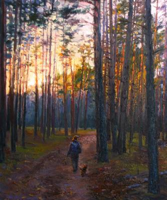 Evening walk in the pine Park. Rodionov Igor