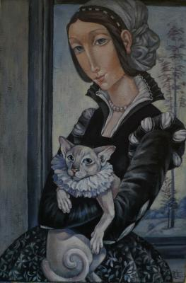Lady and her cat