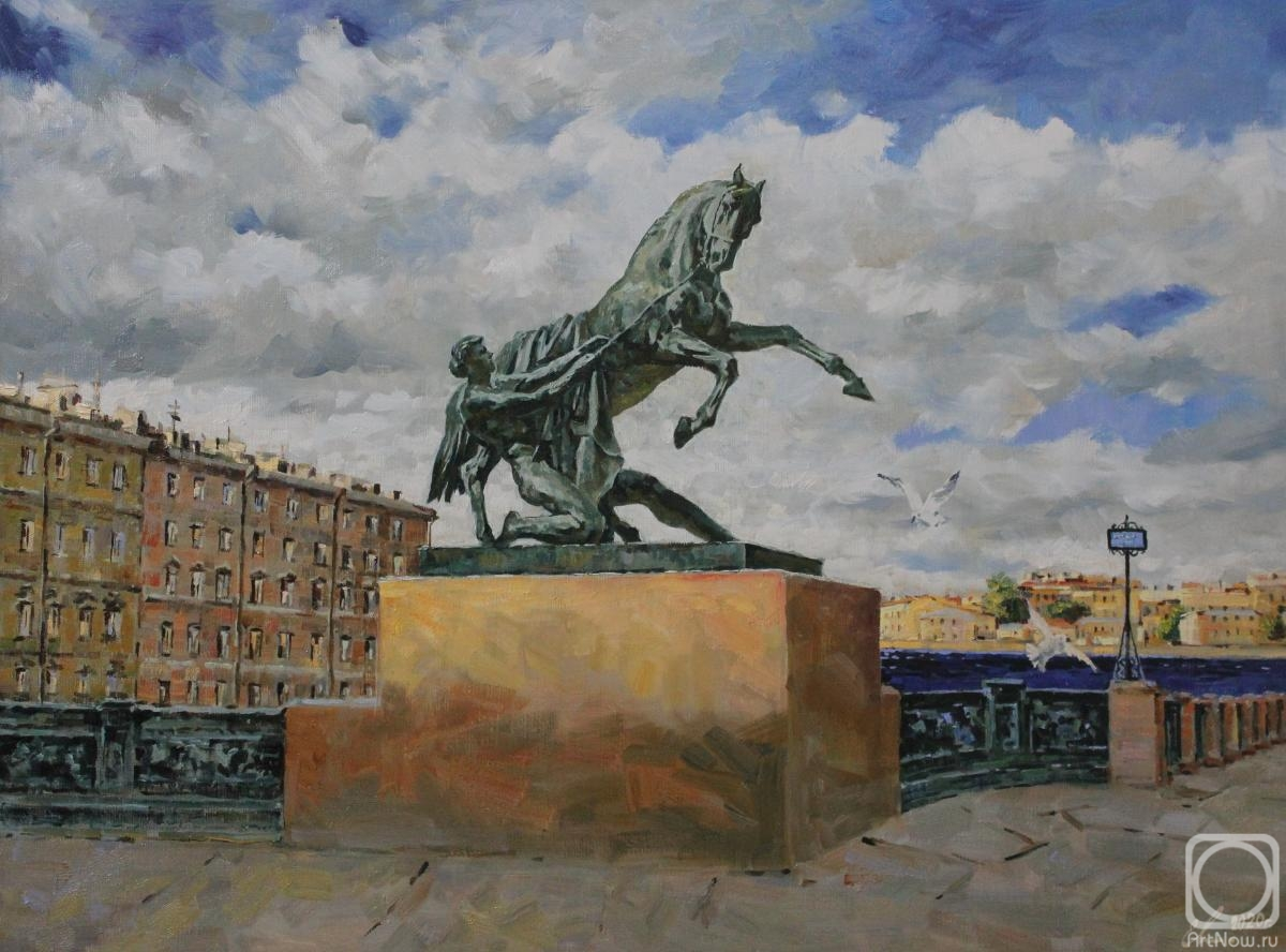 Malykh Evgeny. St.Petersburg. Anichkov Bridge. The sculpture Tamed Horse