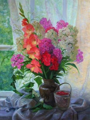 Bouquet with gladioli and Phlox. Shumakova Elena