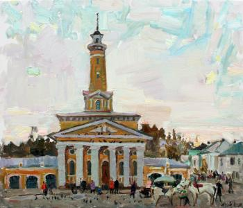 Evening on Susaninskaya square in Kostroma. Zhukova Juliya