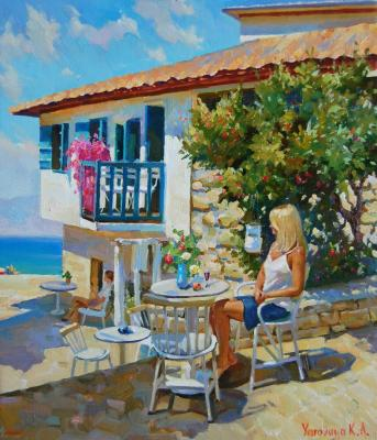 Cafe by the sea. Yarovaya Ksenia