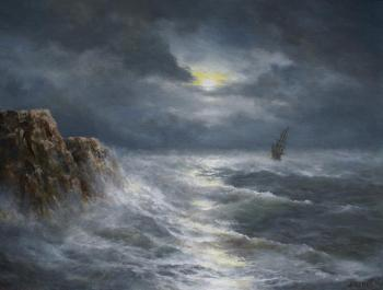 Moon over the sea. Dorofeev Sergey