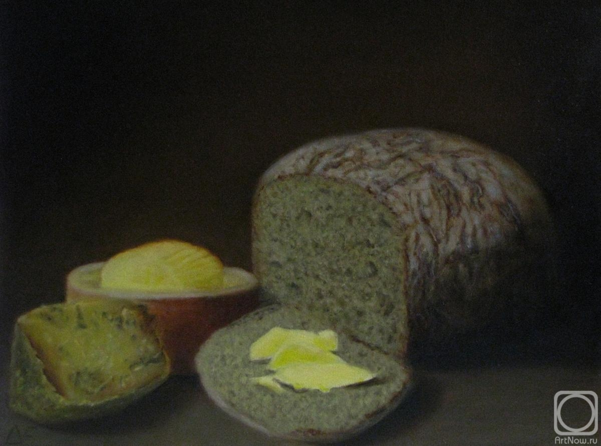 Fomina Lyudmila. Bread with butter and cheese