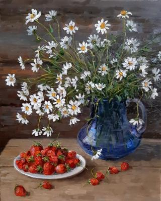 Chamomile and strawberry. Filippov Vladimir