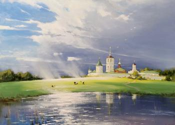 Nikolo-Peshnoshsky monastery. After the rain. Nesterchuk Stepan