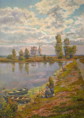 On the old pond. Panov Eduard