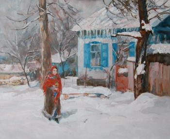 Winter in the village of Smolenskaya. Sayapina Elena