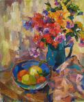 Bocharova Anna. Flowers and fruit platter