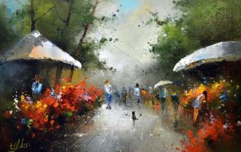 Flower market (Morning Sun). Medvedev Igor