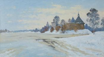 Spring on the Volkhov River. Alexandrovsky Alexander