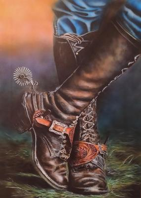 Boots with spurs. Litvinov Andrew