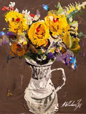 Bouquet of yellow roses in a jug N2. Vlodarchik Andjei