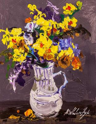 Colorful bouquet in a jug. Vlodarchik Andjei