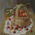 Panina Kira. Cherries in a basket