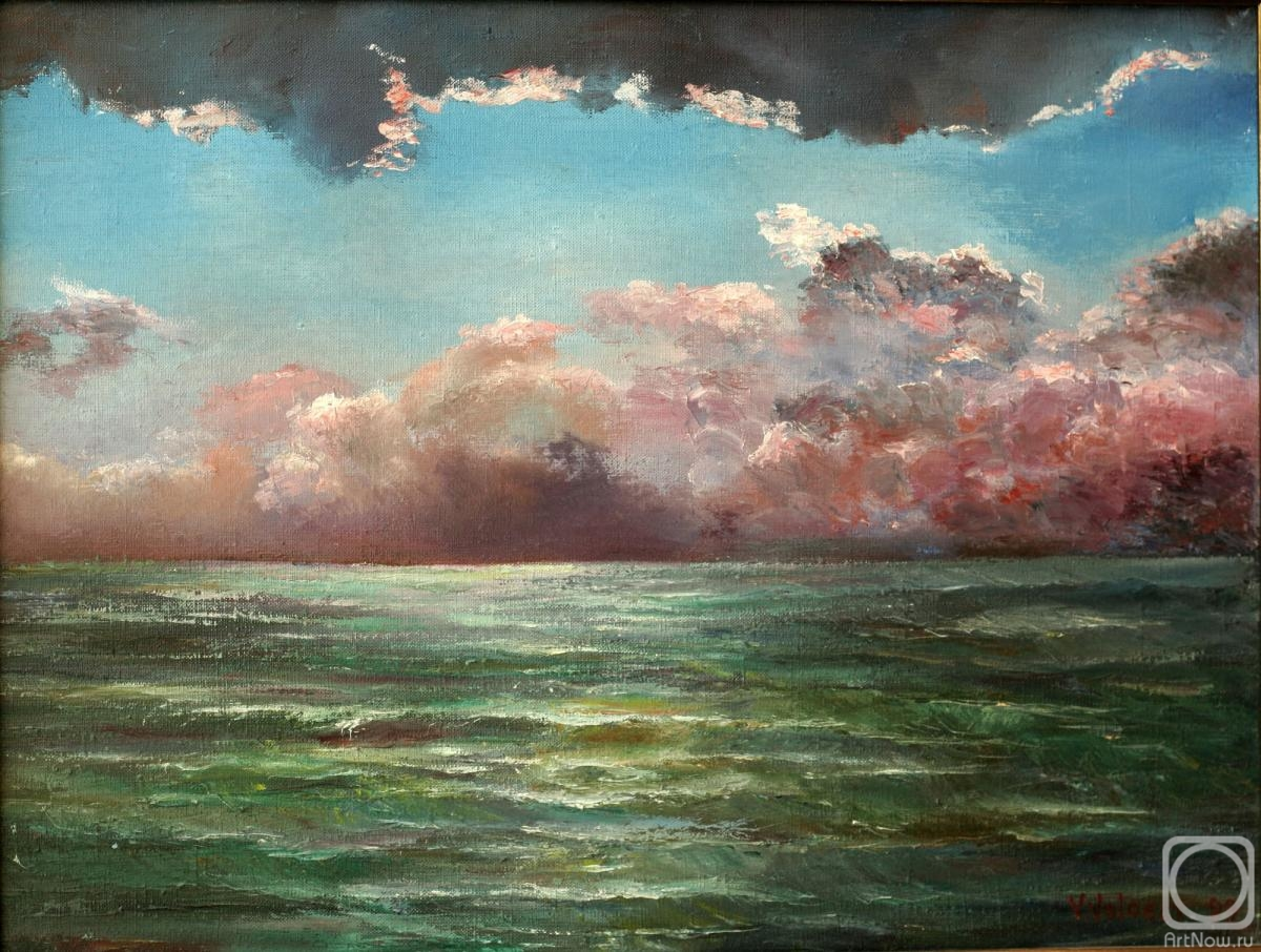Volosov Vladmir. Thunderstorm over the sea